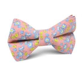 Isle of Skye Peach Floral Kids Bow Tie