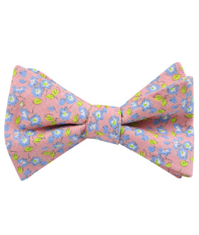 Isle of Skye Peach Floral Self Bow Tie