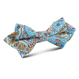 Isola Comacina Blue Paisley Diamond Bow Tie