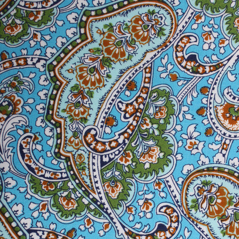 Isola Comacina Blue Paisley Pocket Square