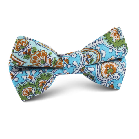 Isola Comacina Blue Paisley Kids Bow Tie