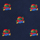 Italian Zombie Plumber Self Bow Tie Fabric