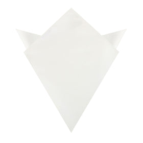 Ivory Crisp Satin Pocket Square