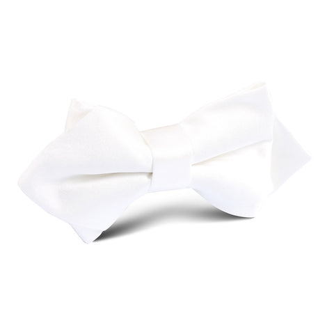 Ivory Satin Diamond Bow Tie