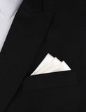 Ivory Satin Oxygen Three Point Pocket Square Fold