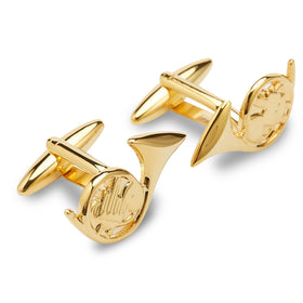 Jackie French Horn Gold Cufflinks