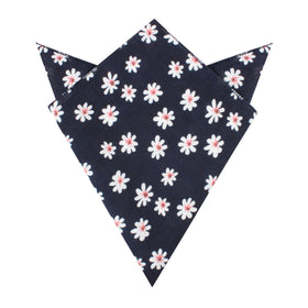 Jamaican White Flower Pocket Square