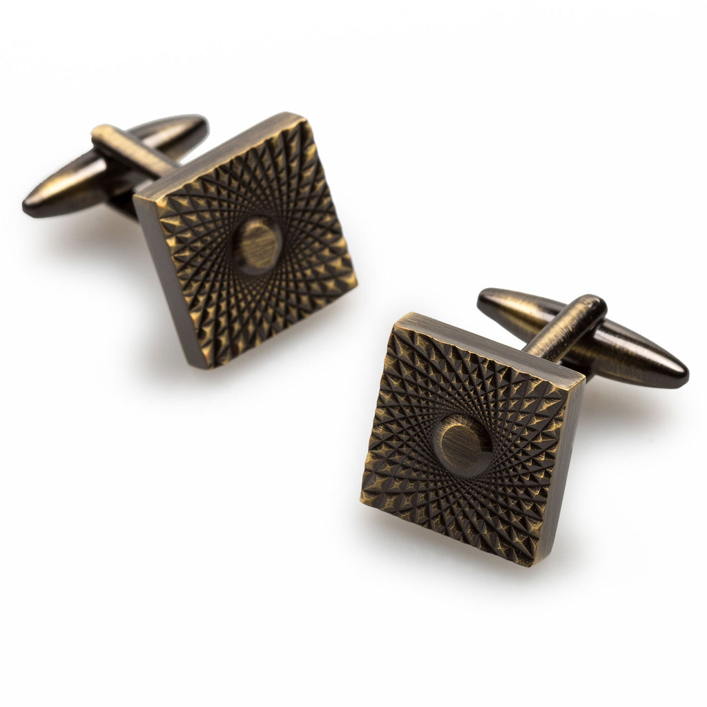 James Bond Antique Brass Cufflinks