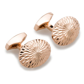 James Watt Rose Gold Cufflinks