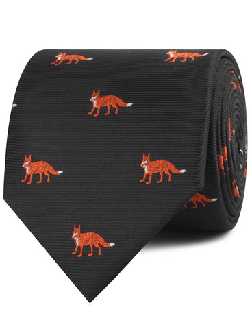 Japanese Ezo Red Fox Necktie
