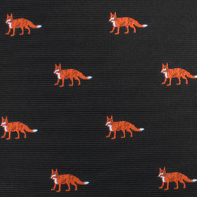 Japanese Ezo Red Fox Pocket Square