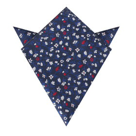 Jardin des Tuileries Navy Floral Pocket Square