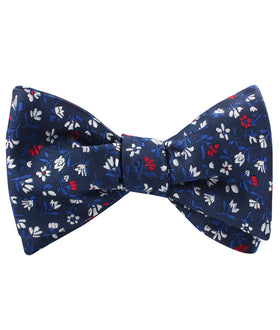 Jardin des Tuileries Navy Floral Self Bow Tie