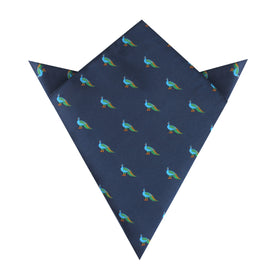 Java Peacock Pocket Square