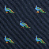 Java Peacock Pocket Square Fabric
