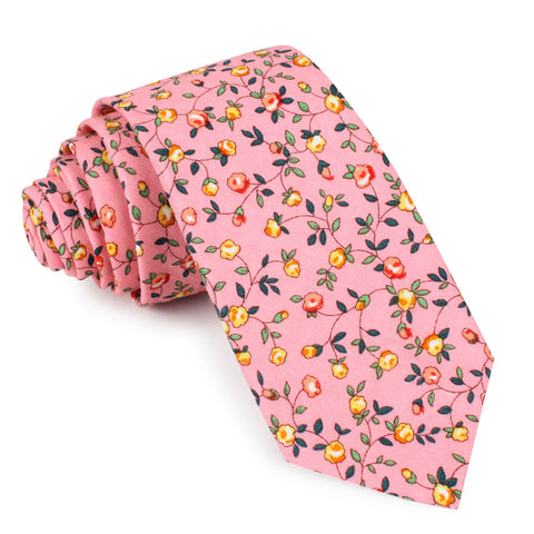Je Suis Malade Floral Skinny Tie