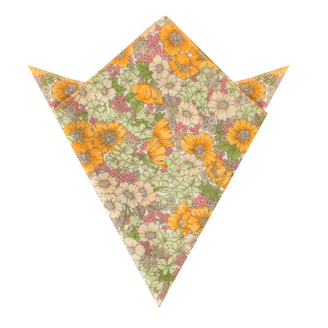 Jeju Island Floral Pocket Square