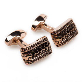 Jenson Button Rose Gold Cufflinks