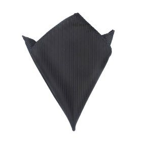 Jet Black Stripes Pocket Square
