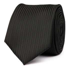 Jet Black Stripes Skinny Tie
