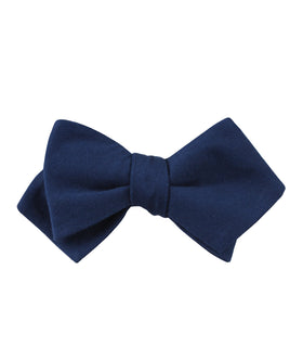 Jeune Fille Endormie Navy Linen Diamond Self Bow Tie