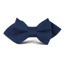 Jeune Fille Endormie Navy Linen Kids Diamond Bow Tie