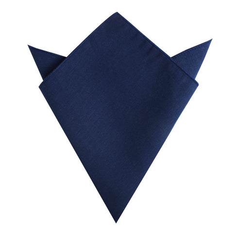 Jeune Fille Endormie Navy Linen Pocket Square