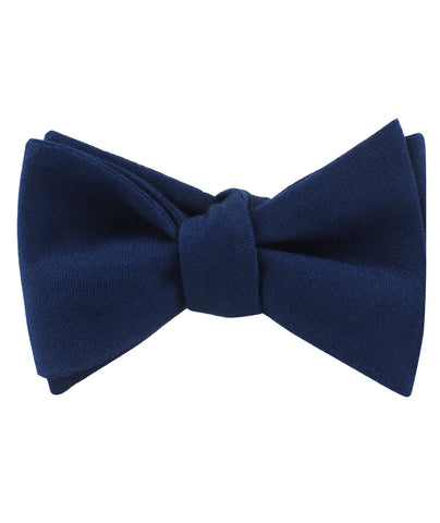 Jeune Fille Endormie Navy Linen Self Bow Tie