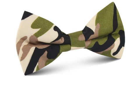 Jungle Green Camo Bow Tie
