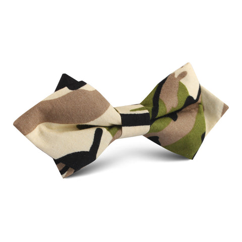 Jungle Green Camo Diamond Bow Tie