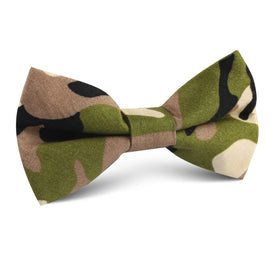 Jungle Green Camo Kids Bow Tie