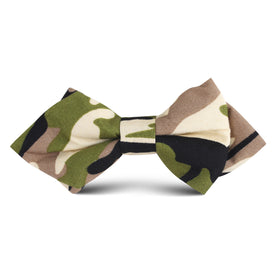Jungle Green Camo Kids Diamond Bow Tie
