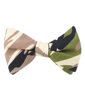Jungle Green Camo Self Bow Tie