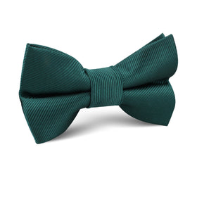 Juniper Dark Green Twill Kids Bow Tie