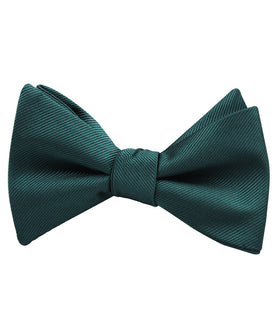 Juniper Dark Green Twill Self Bow Tie