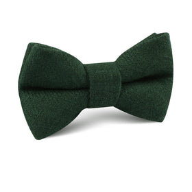 Juniper Green Linen Kids Bow Tie