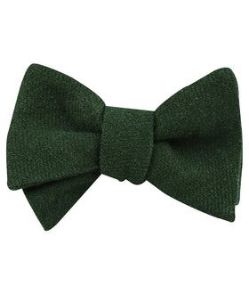 Juniper Green Linen Self Bow Tie