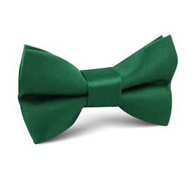 Juniper Green Satin Kids Bow Tie