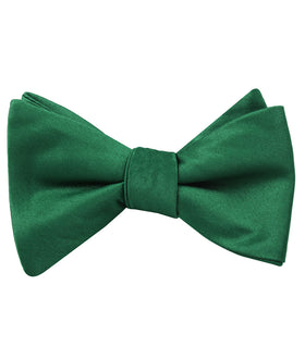 Juniper Green Satin Self Bow Tie