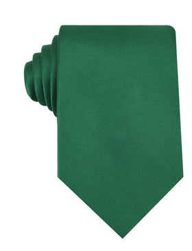 Juniper Green Satin Necktie