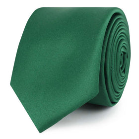 Juniper Green Satin Skinny Tie