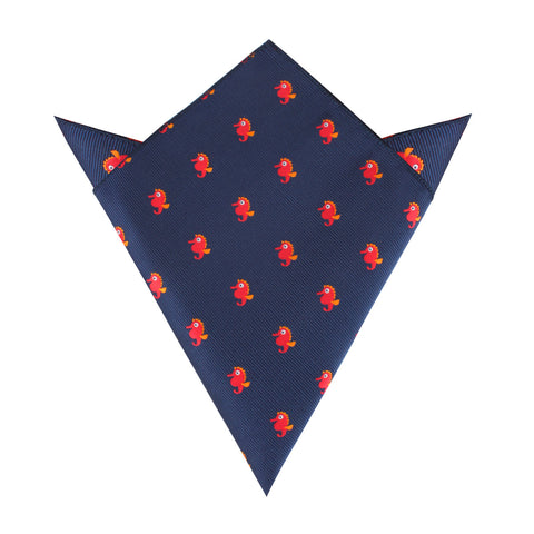 Juno The Seahorse Pocket Square