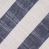 Kekova Blue Striped Linen Fabric Skinny Tie
