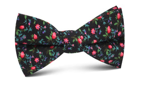 Kenrokuen Japanese Flower Bow Tie