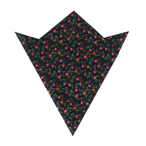 Kenrokuen Japanese Flower Pocket Square