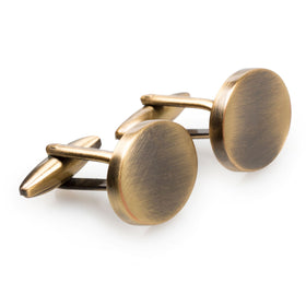 Kensington Oval Brass Cufflinks