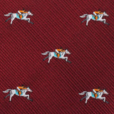 Kentucky Derby Race Horse Self Bow Tie Fabric