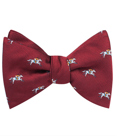 Kentucky Derby Race Horse Self Bow Tie