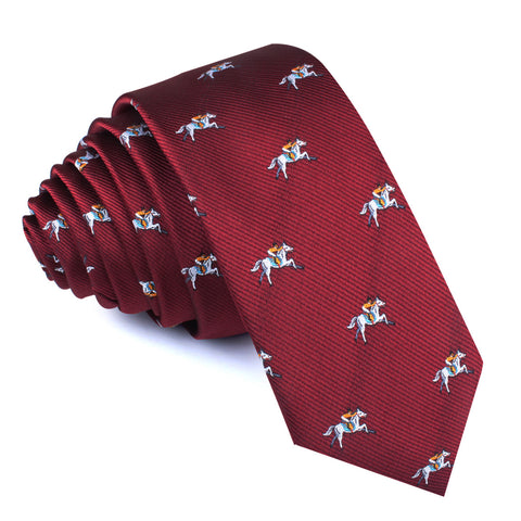 Kentucky Derby Race Horse Skinny Tie