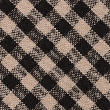 Khaki Black Gingham Blend Fabric Kids Diamond Bow Tie